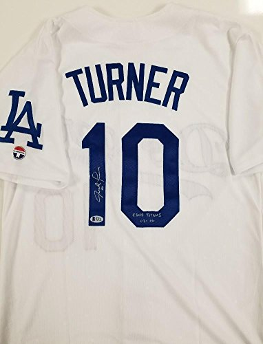 best service 8af15 b5853 Justin Turner Autographed Signature Dodgers Jersey Csuf 03 ...