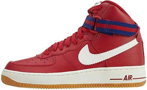 NIKE Youth Air Force 1 (GS) Basketball Shoes (6.5 Big Kid M, Gym Red/Sail-Deep Royal Blue)