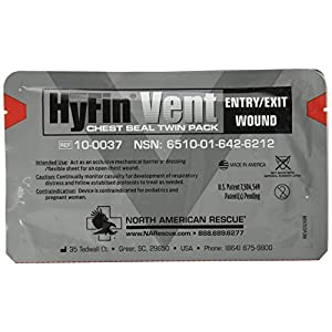 North American Rescue Hyfin Vent Chest Seal, 2 Count, Original Version