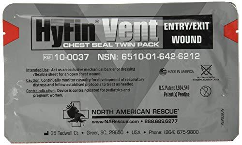 North American Rescue Hyfin Vent Chest Seal, 2