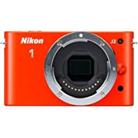 Nikon 1 J2 10.1 MP HD Digital Camera (Orange) Body Only (International Model)
