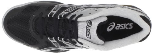 ASICS Men's GEL-Rocket 6 Volleyball Shoe,Black/Silver,10.5 M US