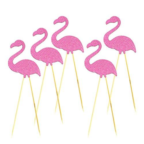 OUNONA-Flamingo-Cake-Tooper-Picks-for-Hawaii-Luau-Beach-Party-Decoration-5pcs