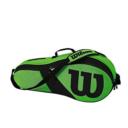 Wilson Match III 3 Pack Tennis Bag, Green/Black ()