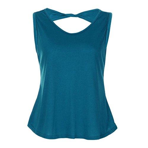 - Women Summer Sleeveless Vest 2018 Clearance KESEE Sexy Halterneck Tank Crop Tops (XXL, Sky Blue)