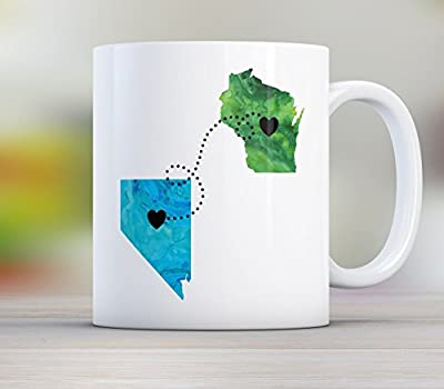 Dad, Personalized Long Distance State Mug Gift with Father Quote, All States, Countries and Provinces 11oz or 15oz