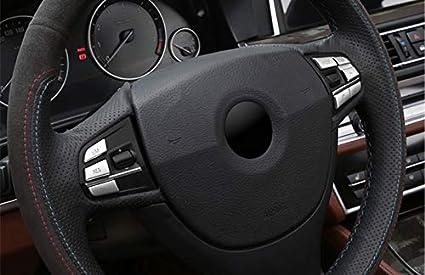 Model B HOTRIMWORLD Interior Steering Wheel Button Trim Cover 7pcs for BMW 3 Series 4 Series F30 F31 F32 F34 2013-2018
