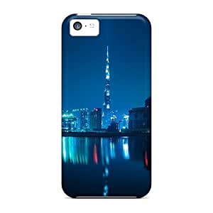 Flexible Tpu Back Case Cover For Iphone 5c - Blue Dubai Night by lolosakes