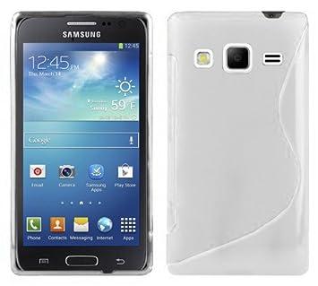 Cadorabo Carcasa Compatible con Samsung Galaxy Express 2 Funda de magnesio Color Blanco Funda Carcasa Flexible de TPU en Silicona en S Line - Carcasa de ...