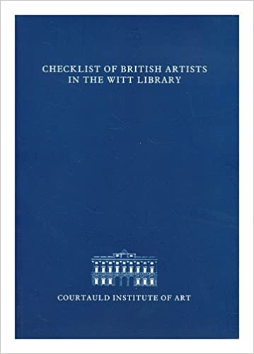 Checklist of British Artists in the Witt Library