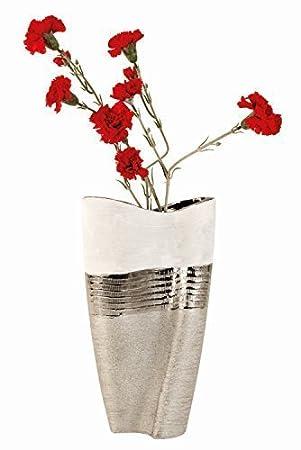 Große Blumenvase amazon de moderne und große deko vase blumenvase aus keramik weiß