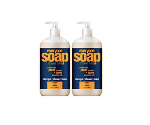 1 Bath Soap (Everyone 3-in-1 Soap for Men, Cedar Citrus, 32oz, 2 Count)