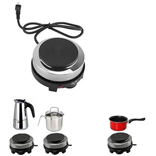 Efaster 220V 500W Mini Electric Stove Hot Plate Multifunction Portable Kitchen Heater,Mini Ultralight Stove Camping Shop Camping Stove Portable Folding Stove (Black)