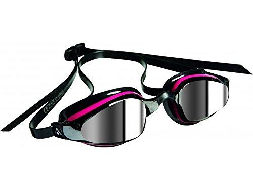 Aqua Sphere-Gafas de natación K180Ladies objetivo de espejo, color negro y rosa