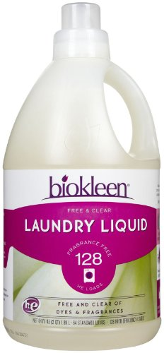 Biokleen Laundry Products Laundry Liquid, Free & Clear 64 fl. oz.(128 HE loads) (a)