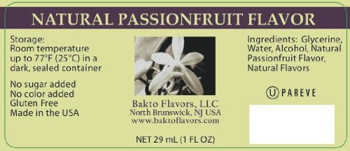 Bakto Flavors Natural Passion Fruit Flavor (1 FL OZ) Pack of 3