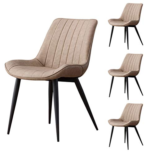 OUG Dining Table and Chair Retro Style, Modern Minimalist Backrest, Thick Carbon Steel Frame, Suitable for Restaurant Cafe (Optional ()