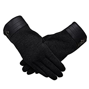 Woogwin Men's Winter Gloves Touch Screen Warmest Cold Weather Driving Gloves