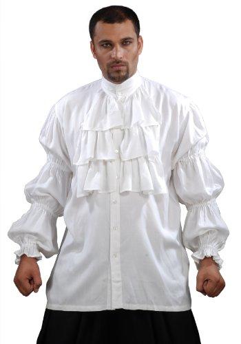 Armor Venue - Seinfeld Puffy Shirt - Renaissance Costume - White S/M -