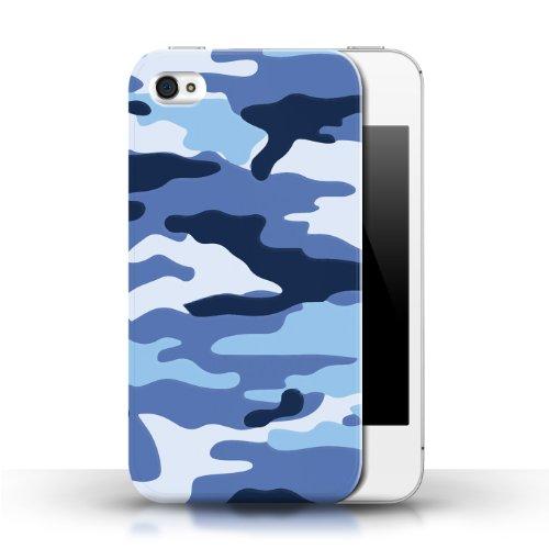 iCHOOSE Print Motif Coque de protection Case / Plastique manchon de telephone Coque pour Apple iPhone 4/4S / Collection Armée/Marine militaire/Camouflage / Bleue 2