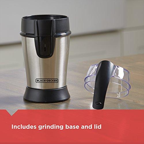 Black And Decker Coffee Grinder ~ Black decker smartgrind coffee grinder stainless steel