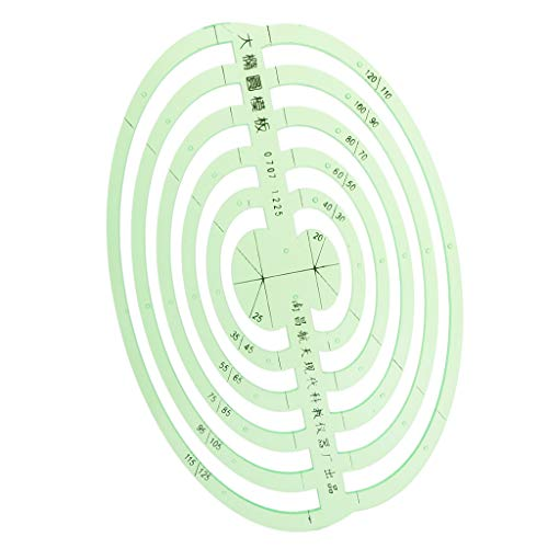 SM SunniMix 1 Pc Plastic Green Measuring Templates Geometric Rulers for Office and School, Building formwork, Drawings templates - Large Oval by SM SunniMix (Image #9)