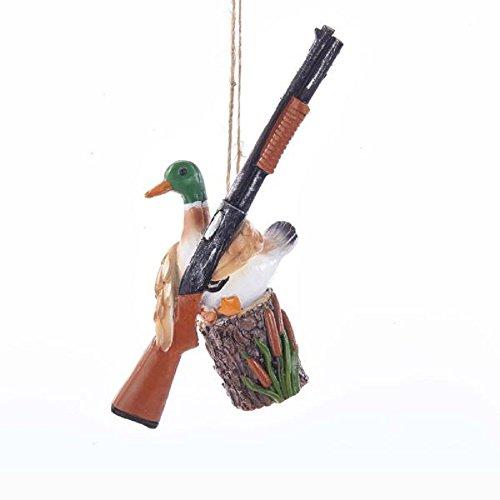 Kurt Adler Sitting Duck with Shotgun Ornament