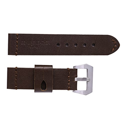 NICERIO 26mm Watch Strap Durable Calfskin Genuine Leather Watch Band Wristband for Watch Replacement