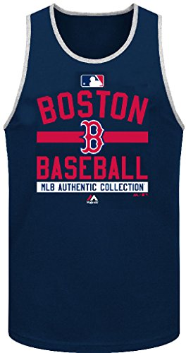 Boston Red Sox Ac Navy Team Property Tank Top By Majestic  X Large