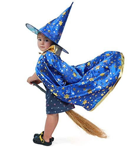 Wizard Halloween Costume - AtRenty Witch Cloak with Hat for