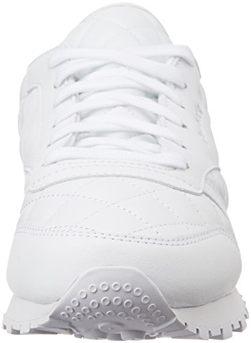 Classic White Femme Mode Baskets Leather Noir Reebok Quilted 6Hxd6q