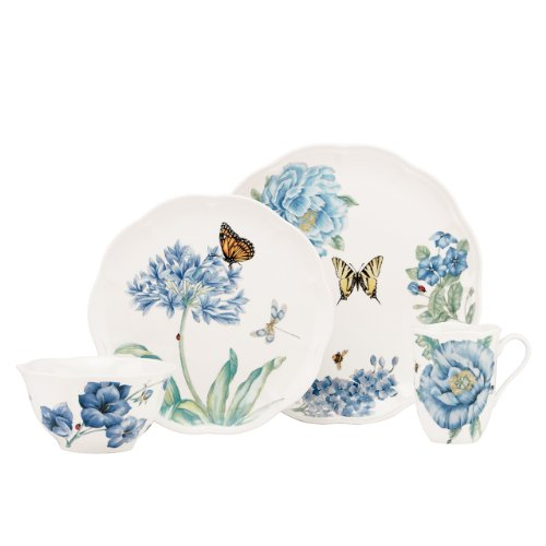 Blue Bone Dish - Lenox Butterfly Meadow Blue 4-Piece Place Setting