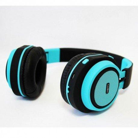 CoolBox CoolHead Binaurale Diadema Azul - Auriculares (Diadema, Binaurale, Azul, Digital, Alámbrico/Inalámbrico, Bluetooth / 3.5mm)
