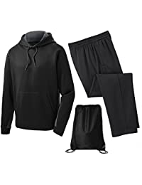 Men's Sport Wick Fleece Tracksuit - Pullover Hoodie and Pant
