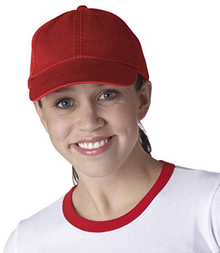 Adams Cotton Twill Classic Optimum Cap - Poppy (Washed Cotton Twill Hat)