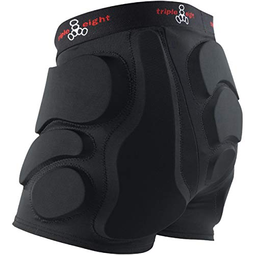 (Triple Eight Roller Derby Bumsaver (Black, X-Small))