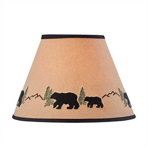Park Designs Black Bear Embroidered Shade 10 inches