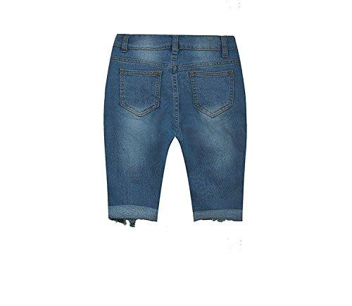 Estivi Blu Oudan Skinny Donna Con Bassa Jeans Vita Zip Alta A Da Pantaloni 77YqZ