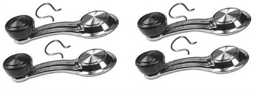 1967-81 Camaro and Firebird Window Crank Handle 4-Pc Set -Black Knobs