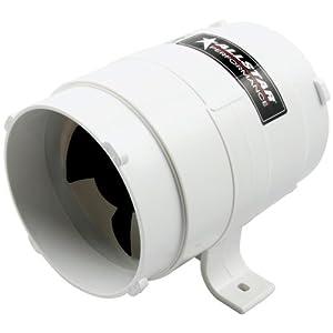 """Allstar ALL13009 4"""" Diameter 8"""" Length 240 CFM Rating Heavy Duty Model In-line Duct Blower"""