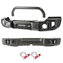 Rugged Ridge 11544.61 Front and Rear Spartacus Bumper for Jeep Wrangler JK (Over-Rider)