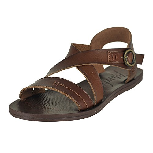 Blowfish Women's Drum Flat Sandal, Whiskey, 7.5 M US