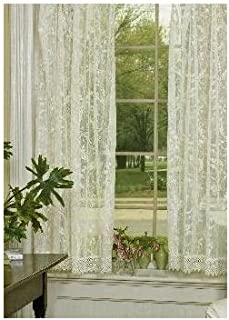 product image for Heritage Lace Coventry 45-Inch Wide by 63-Inch Drop Panel with Trim, Ivory