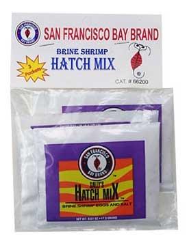 BRINE SHRIMP HATCH MIX, 2 PACK, AQUARIUM, FREEZE DRIED FISH FOOD, SAN FRANCISCO BAY BRAND (Mix Hatch)
