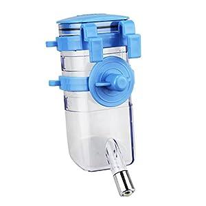 Pet Water Bottle Top-fill Rabbit Small Dog Cat Ferret Bunny Water Feeder Dispenser (Blue)