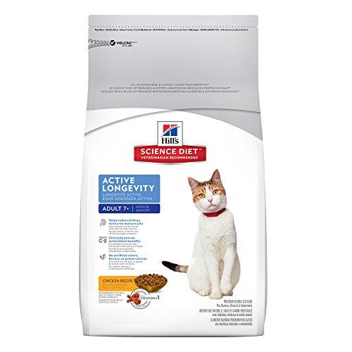 HillS Science Diet Senior Cat Food, Adult 7+ Active Longevity Chicken Recipe Dry Cat Food, 16 Lb Bag