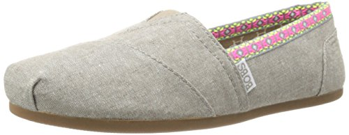 BOBS from Skechers Women's Plush Falcon Feather Flat, Taupe, 9 M US