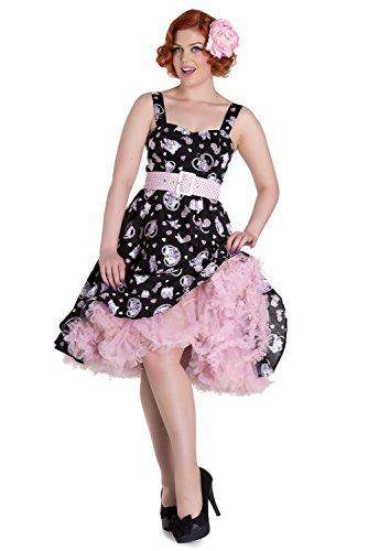 Rosa Bunny Hell Damen Kitten Amelia Schwarz Swingkleid Hearts Kleid pddO8xwq