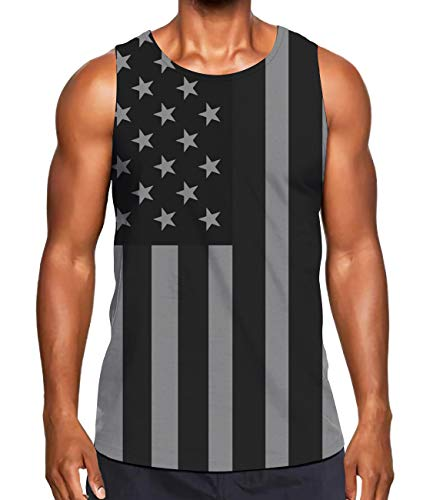 - Alistyle Fanient Men Funny 3D Print Stripe Star Tank Tops Summer Casual Sleeveless Graphics Tees