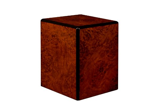Chateau Urns Society Collection, Pet Urn, Small cremation Urn, Keepsake Urn Burl wood finish